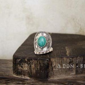 Natural Turquoise Sterling Silver R..