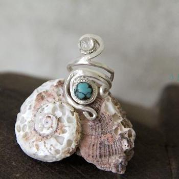 Rainbow Moonstone and Turquoise Solid Sterling Silver Ring, ONE OF A KIND, Hand Carved Natural finish Bohemian Ring, Large Statement Ring,